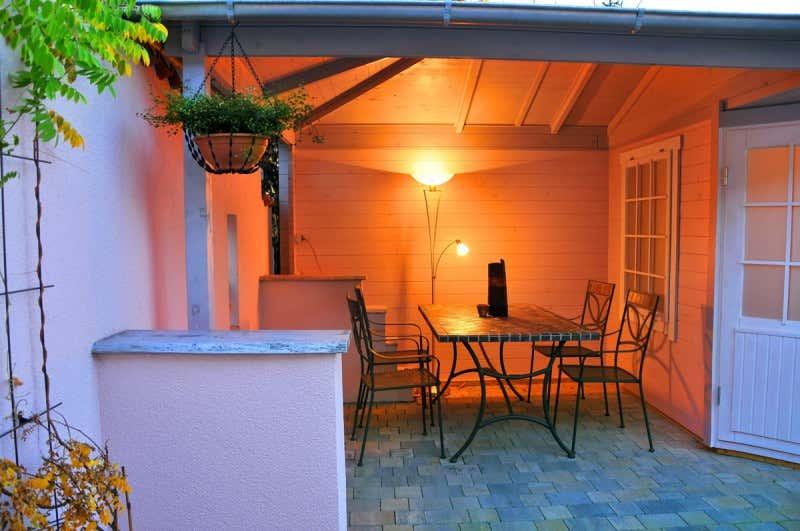 5 eck gartenhaus modell rhein 40 mit anbau a z. Black Bedroom Furniture Sets. Home Design Ideas