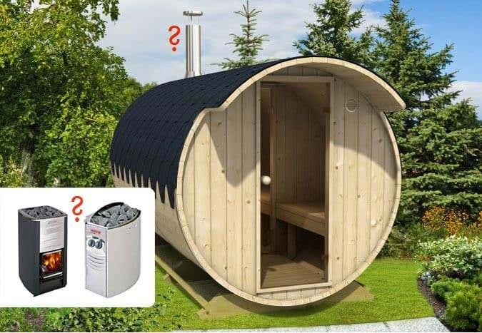sauna heizung holzofen oder elektro. Black Bedroom Furniture Sets. Home Design Ideas