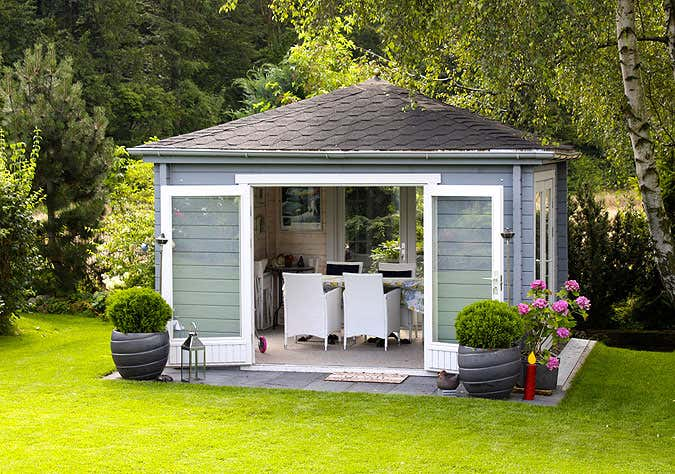 Gartenhaus Teehaus 70 Schatten Windschutz Und Geborgenheit