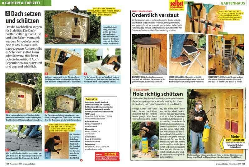 gartenhaus monica aufbau und bericht bei selbst ist der mann gartenhaus magazin. Black Bedroom Furniture Sets. Home Design Ideas