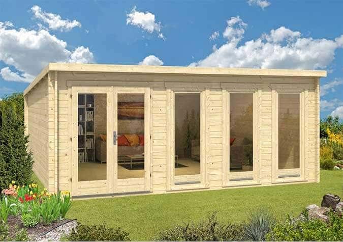Bekannt Modernes Gartenhaus-Design: Die Pultdach-Serie Atrium MO54