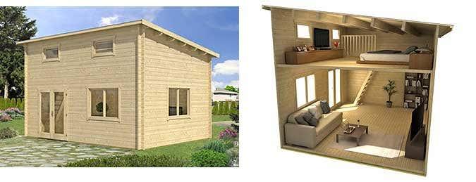 ein gartenhaus mit schlafboden bietet mehr platz zum. Black Bedroom Furniture Sets. Home Design Ideas