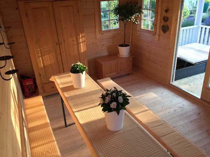 Gartenhaus amsterdam 44 iso mit individuellem dach for Magazin einrichtung