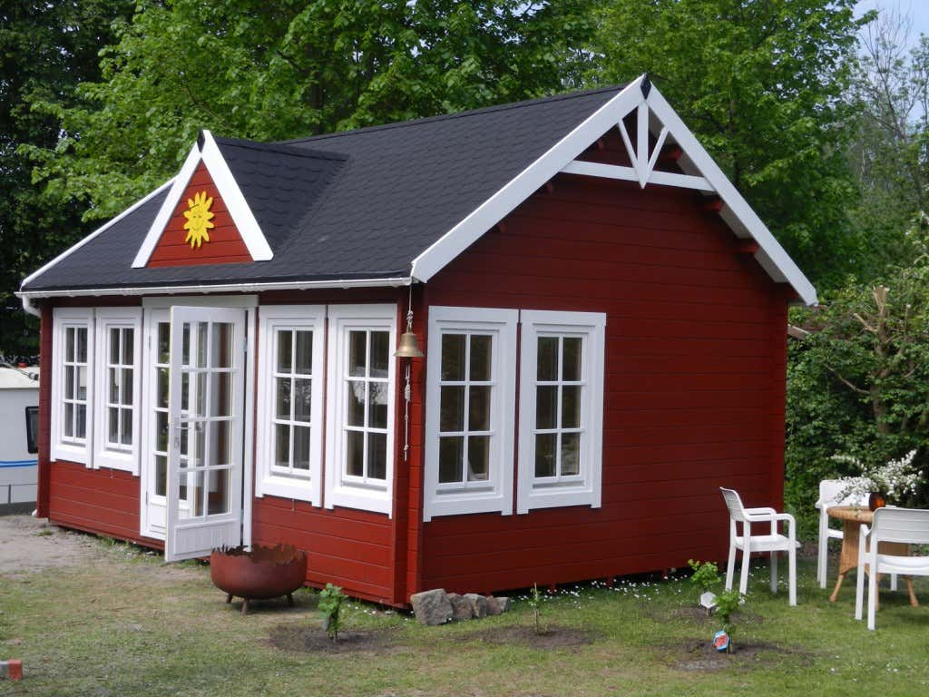 wohnzimmerz: skandinavische gartenhäuser with gartenhaus aus holz, Moderne