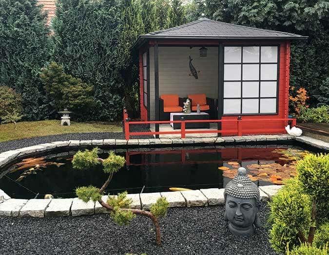 Das Gartenhaus im japanischen Stil
