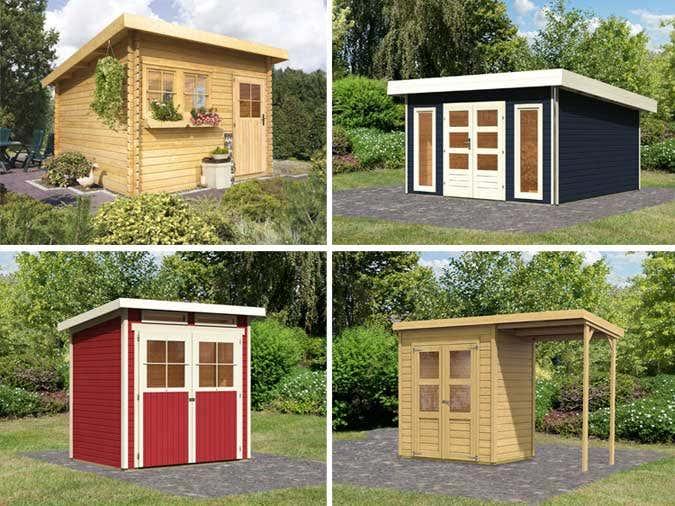 ein pultdach gartenhaus von karibu. Black Bedroom Furniture Sets. Home Design Ideas
