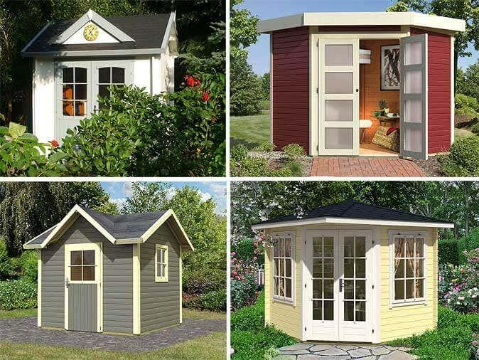 gartenh uschen f r kleine g rten. Black Bedroom Furniture Sets. Home Design Ideas