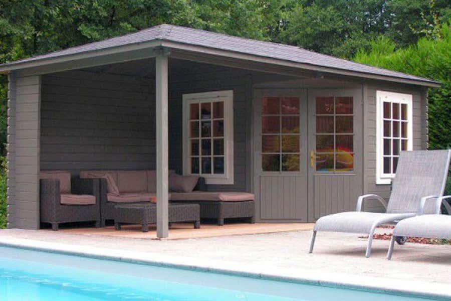 5 Eck Gartenhaus Modell Mosel 40