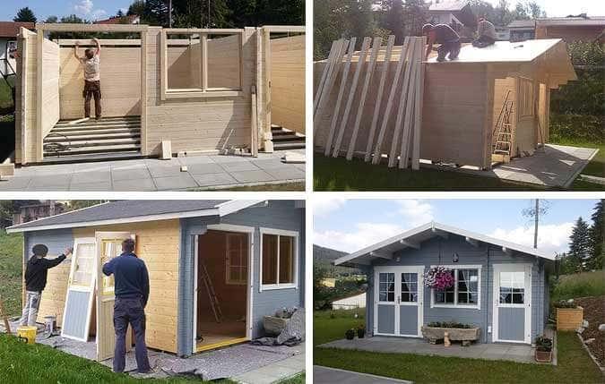 gartenhaus inkl aufbau luoman gartenhaus inkl aufbau bxt. Black Bedroom Furniture Sets. Home Design Ideas
