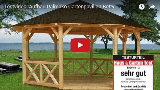 gartenpavillon betty aufbauvideo und bewertung. Black Bedroom Furniture Sets. Home Design Ideas