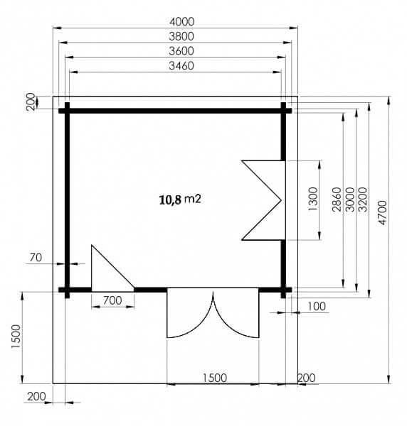gartenhaus rh n 70 d in hanglage aufbau und einrichtung. Black Bedroom Furniture Sets. Home Design Ideas