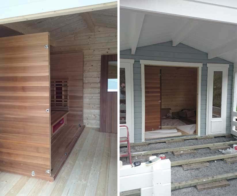 gartenhaus mit infrarotkabine sauna mal anders. Black Bedroom Furniture Sets. Home Design Ideas