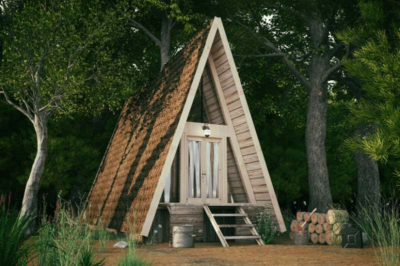 Tiny House mit Spitzdach