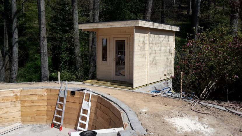 saunahaus turku 44 sauna poolhaus im miami beach style. Black Bedroom Furniture Sets. Home Design Ideas
