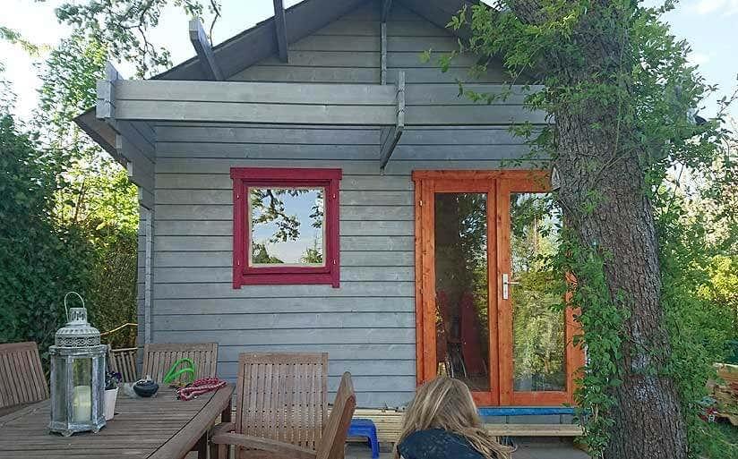gartenhaus m hlheim 44 iso mit schlafboden und solardach. Black Bedroom Furniture Sets. Home Design Ideas