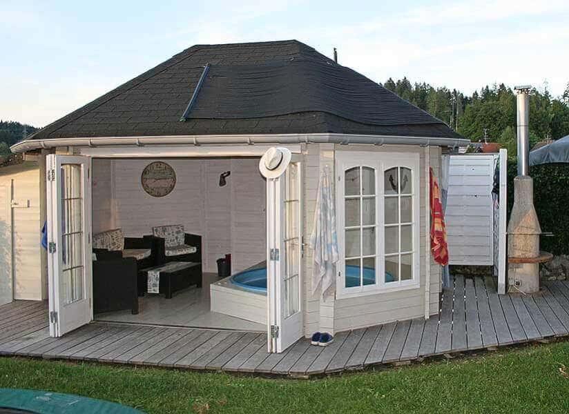 10 ausgefallene gartenh user. Black Bedroom Furniture Sets. Home Design Ideas