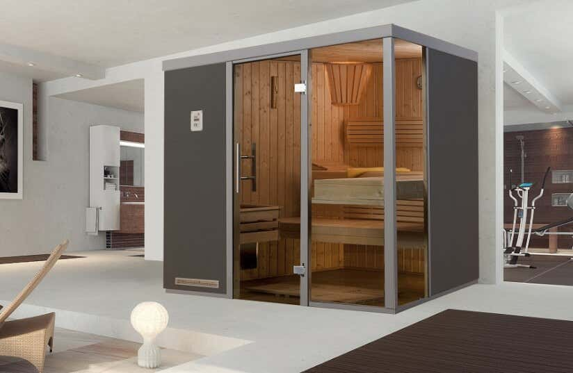 sauna grau wei tolle beispiele unserer kunden. Black Bedroom Furniture Sets. Home Design Ideas