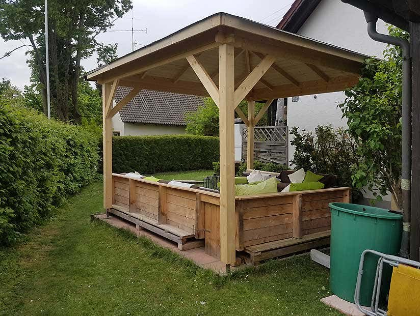 Gartenlounge Selber Bauen Ein Pavillon Für Die Ganze Familie