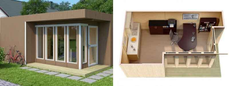 Design Gartenhaus Home Office