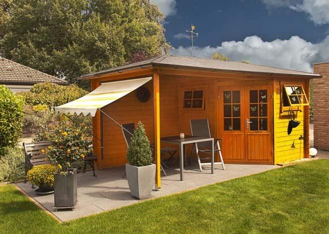 5 Eck Gartenhaus Mit Anbau Modell Franz 28