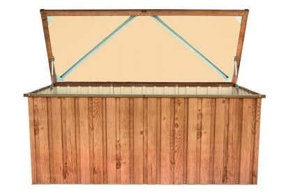 Metall Geratebox 170x70 Holz Dekor Eiche