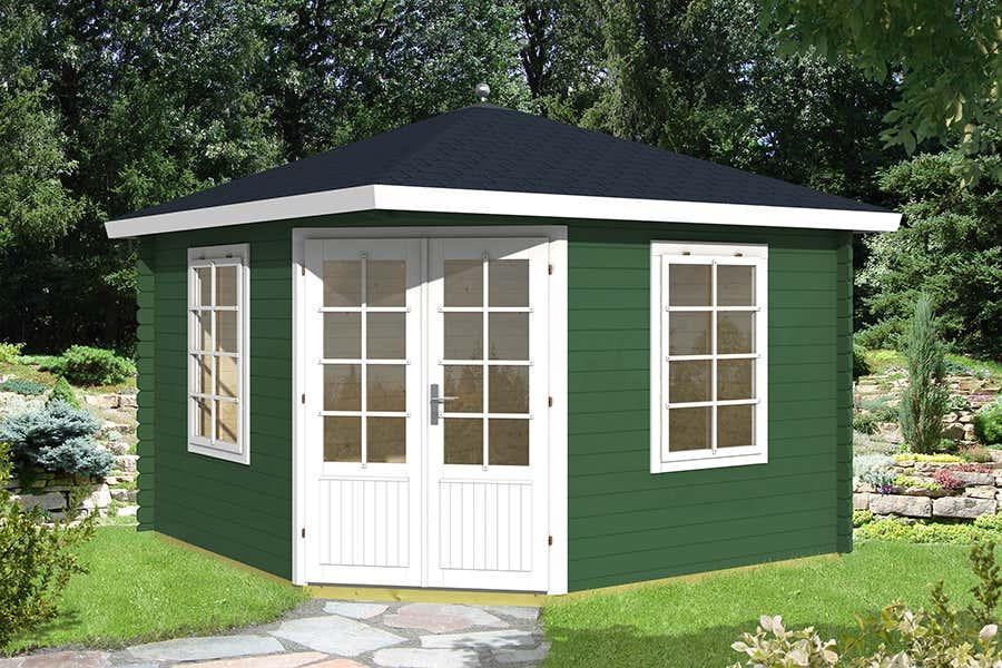 5 eck gartenhaus modell aruba te 122036 a z gartenhaus gmbh. Black Bedroom Furniture Sets. Home Design Ideas