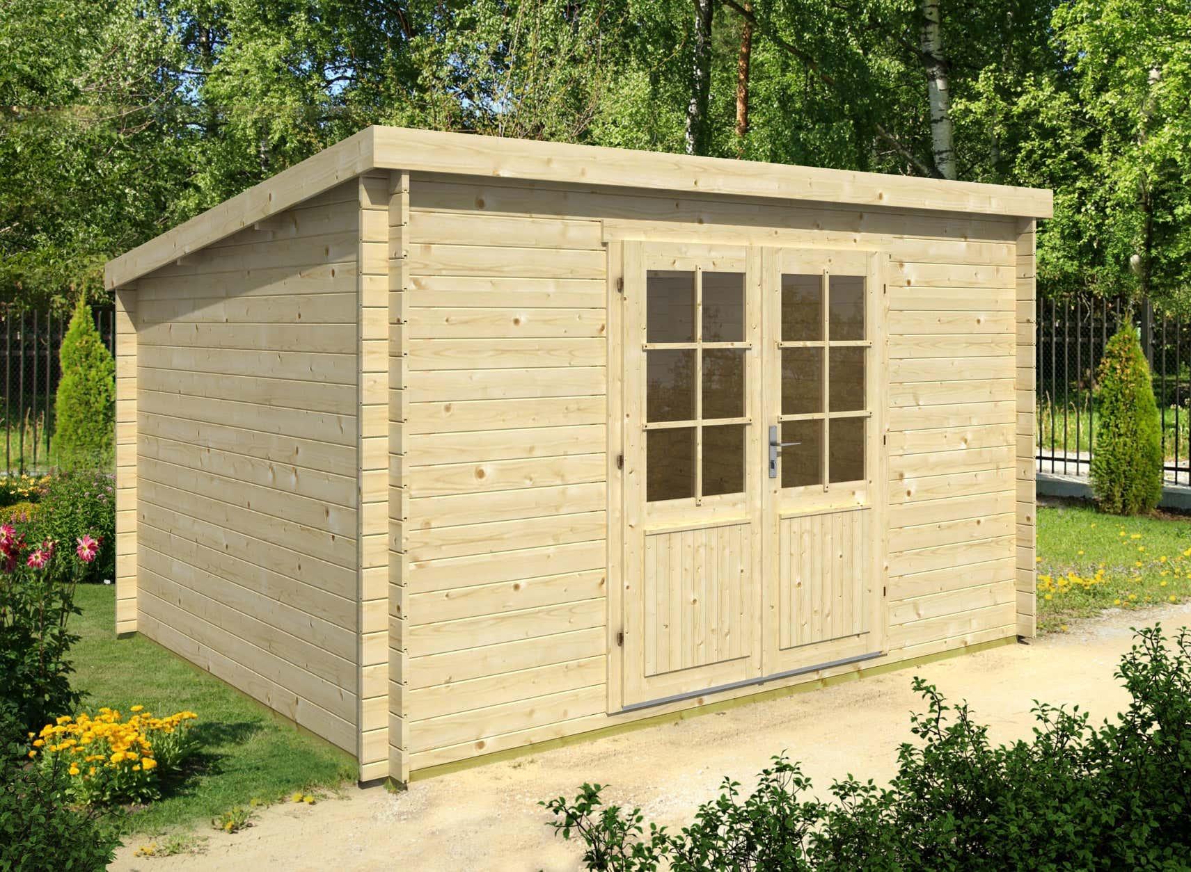 gartenhaus mit flachdach g nstig kaufen 0 versandkosten. Black Bedroom Furniture Sets. Home Design Ideas
