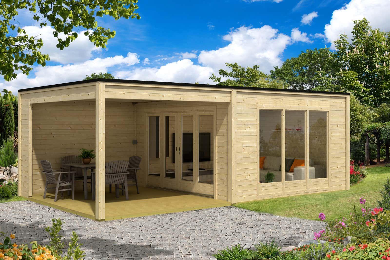 moderne gartenh user kaufen ber 100 design gartenh user. Black Bedroom Furniture Sets. Home Design Ideas