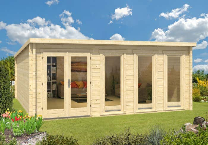 blockhaus kaufen holzhaus und blockbohlenhaus bis zu 20. Black Bedroom Furniture Sets. Home Design Ideas