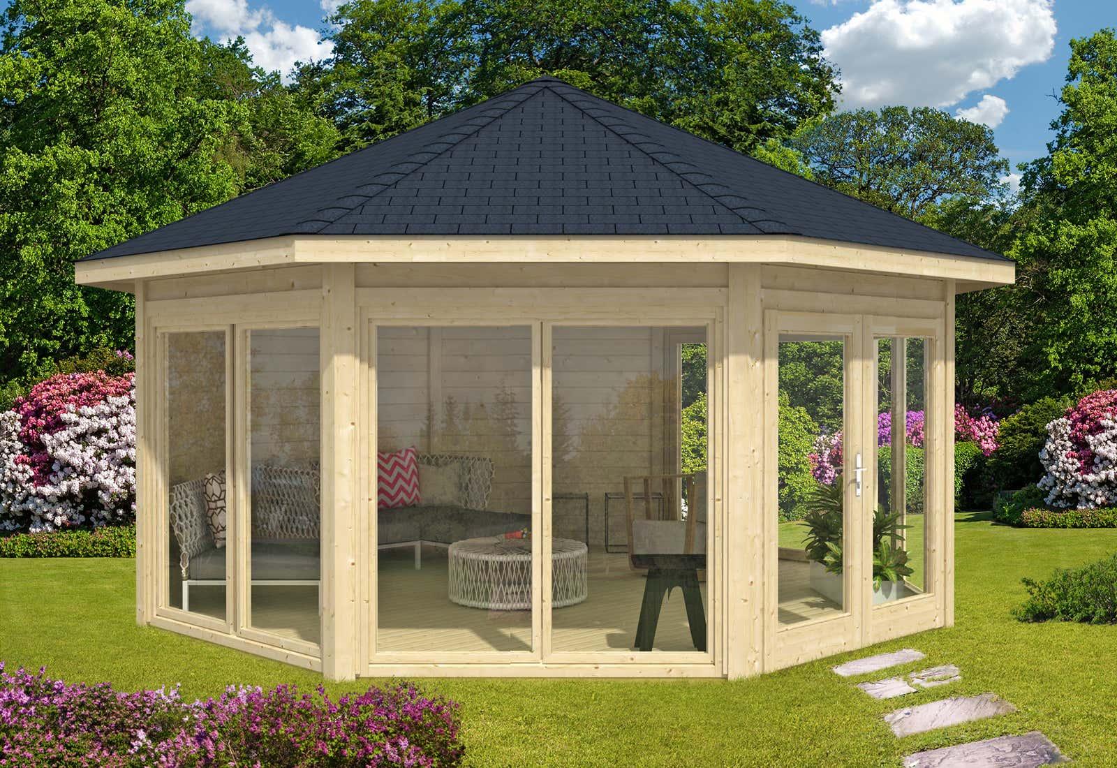 Gartenpavillon aus holz kaufen gartenlauben vom fachmann - Gartenpavillon aus holz selber bauen ...